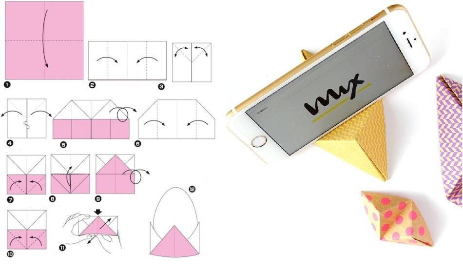 подставка для телефона из бумаги фото