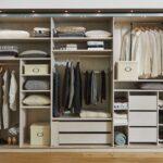 количество одежды в шкафу