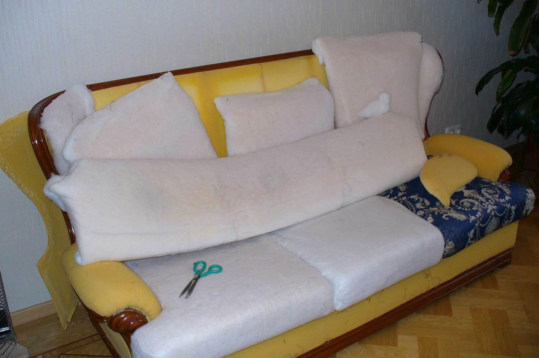 инструкция по замене поролона на диване