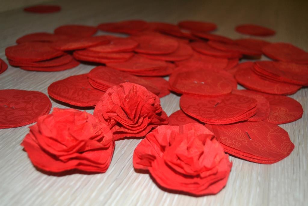 роза из салфеток фото идеи