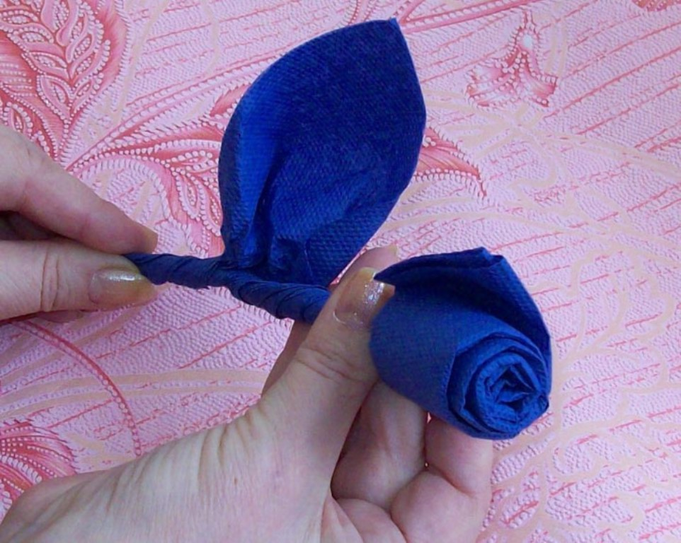 роза из салфеток идеи