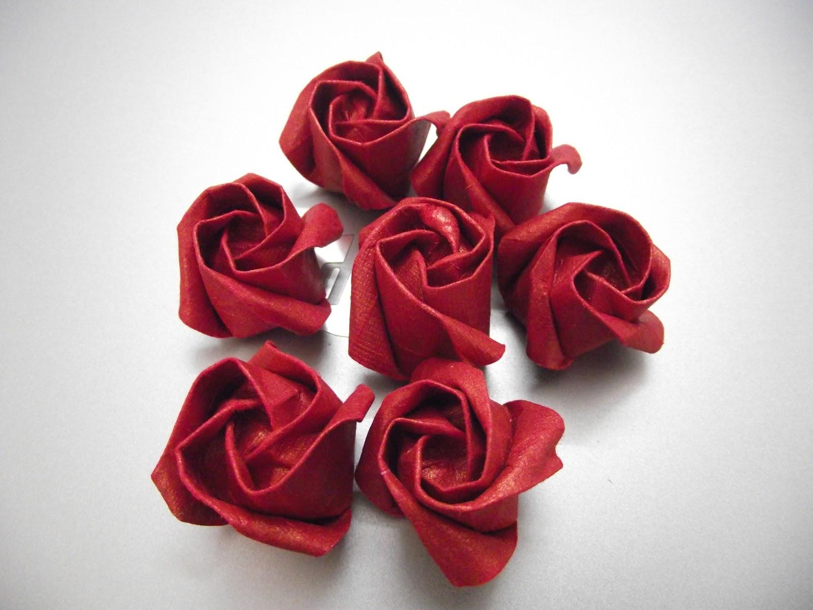 роза из салфеток своими руками