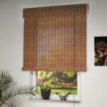 бамбуковые шторы в клетку