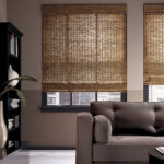 бамбуковые шторы светло-коричневые