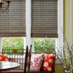 бамбуковые шторы серые