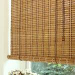 бамбуковые шторы бежевые