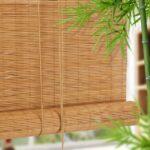 бамбуковые шторы с веткой