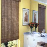 бамбуковые шторы длинные серые