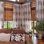 бамбуковые шторы с занавесками