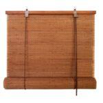 бамбуковые шторы рыжие
