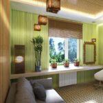 бамбуковые шторы широкие коричневые