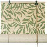 бамбуковые шторы с листьями