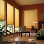 бамбуковые шторы желтые