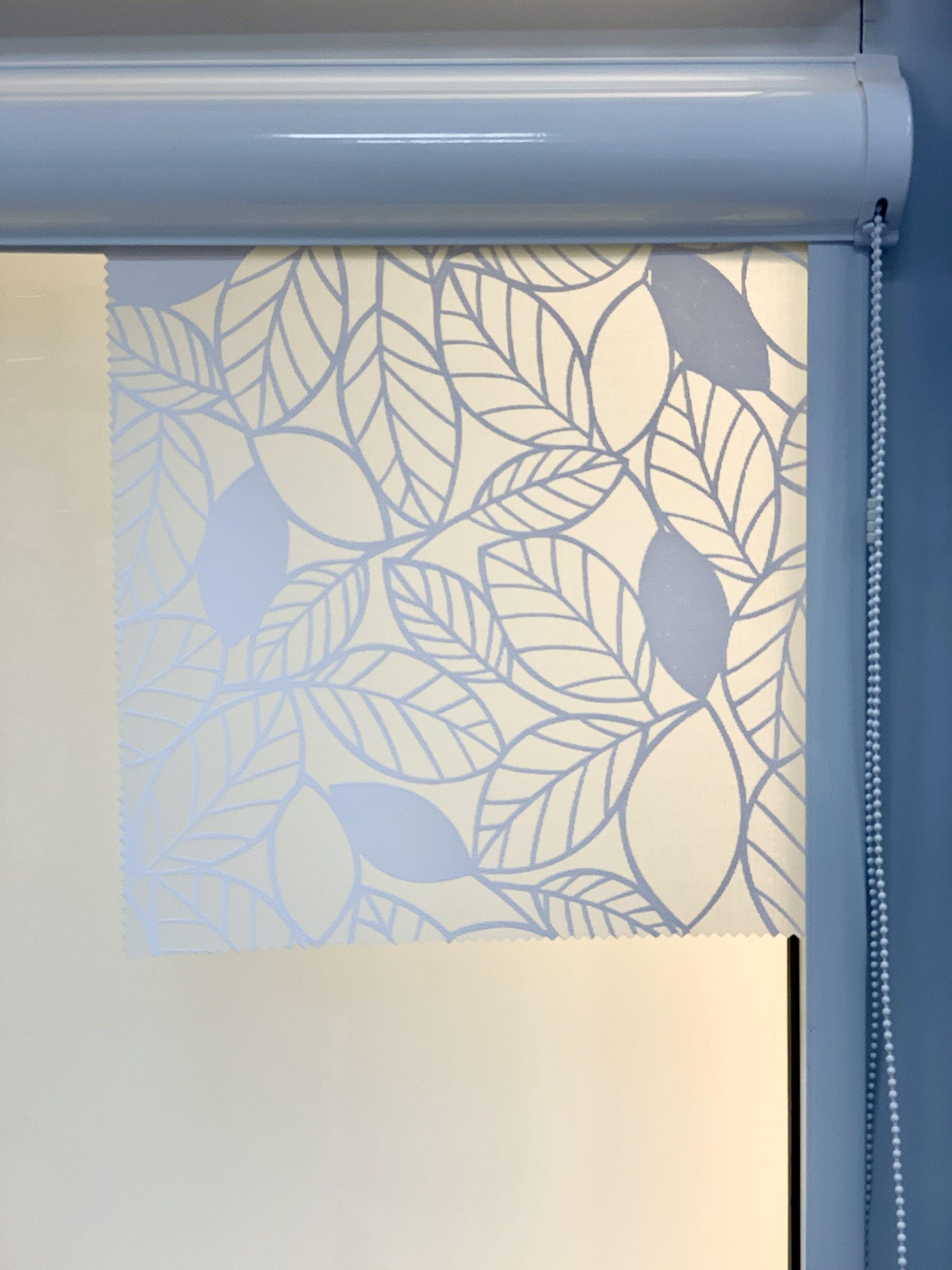 рулонные шторы перфорированный листва