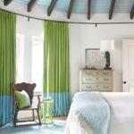 зеленые шторы два цвета