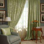 зеленые шторы плотные