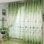 зеленые шторы рисунок