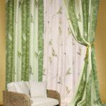 шторы зеленые
