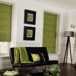 зеленые шторы жалюзи