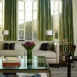 зеленые шторы гостиная