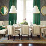 зеленые шторы темные