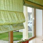 зеленые шторы рулонные