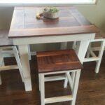 самодельный кухонный стол интерьер идеи