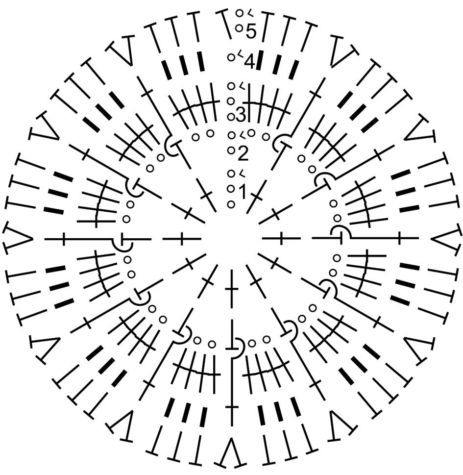 схема вязания крючком фото