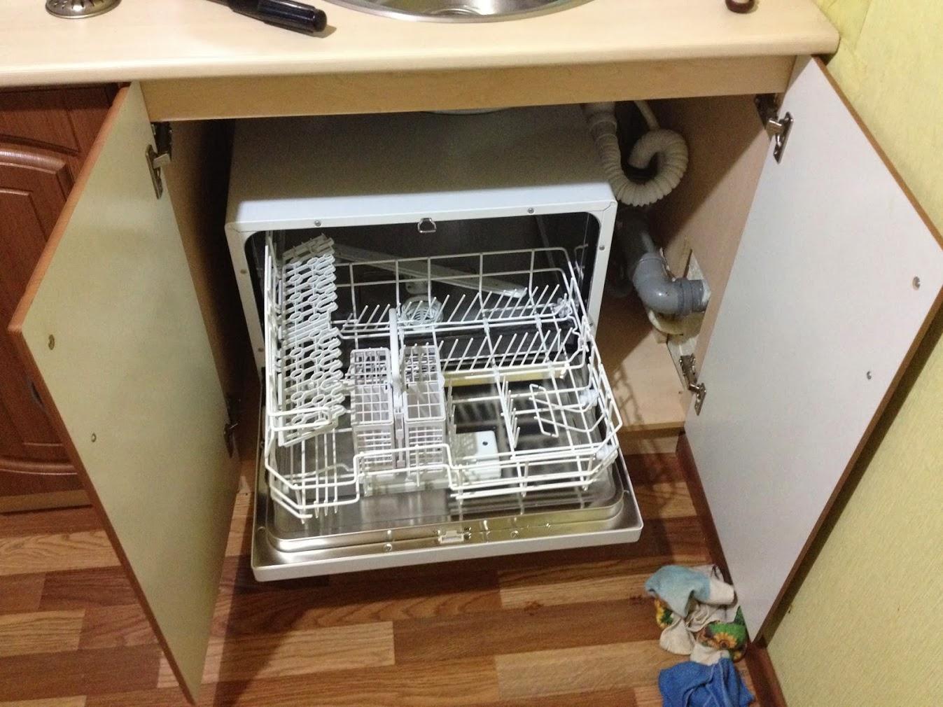 встраивание посудомоечной машины