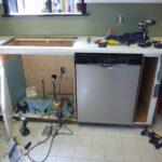 подготовка места под посудомойку