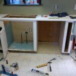 монтаж шкафа для посудомойки