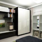 шкаф-купе в гостиной белый модульный