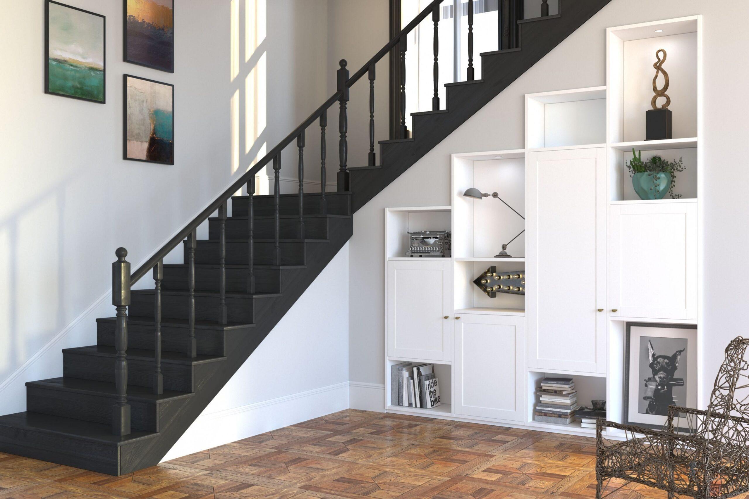 модульный шкаф под лестницу