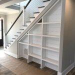 шкаф под лестницей белый стеллаж