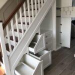 шкаф под лестницей белый выдвижной