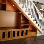 шкаф под лестницей комбинированный