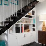 шкаф под лестницей белый комбинированный