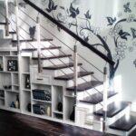 шкаф под лестницей стеллажи