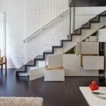 шкаф под лестницей белый