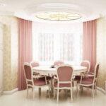 шторы из Италии розовые