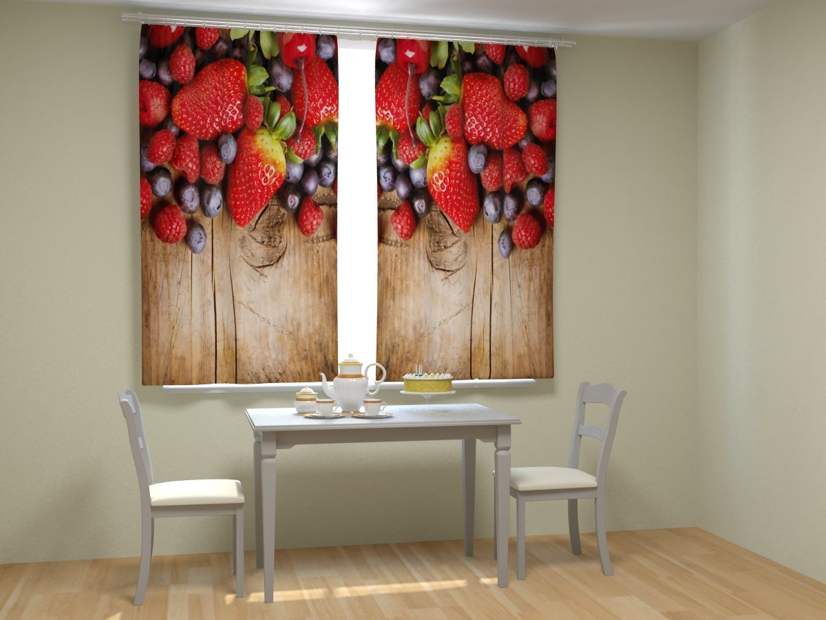 Фотопечать фрукты на обоях для кухни
