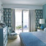 итальянские шторы голубые