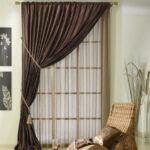 итальянские шторы коричневые
