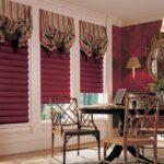 итальянские шторы бордо