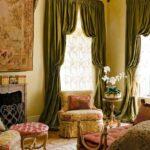 итальянские шторы зеленые