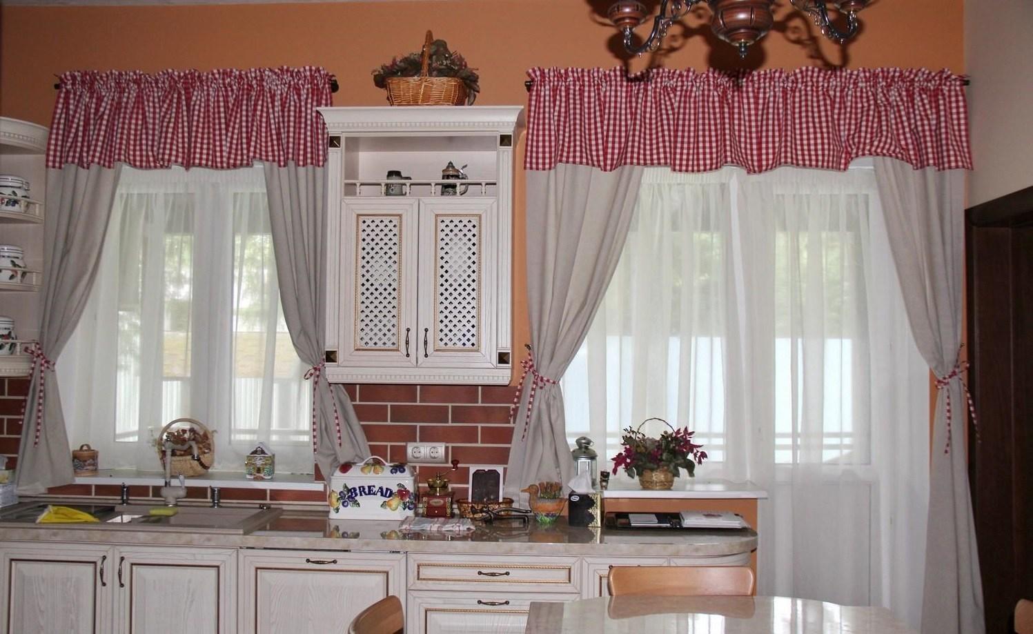 шторы на кухне как сделать