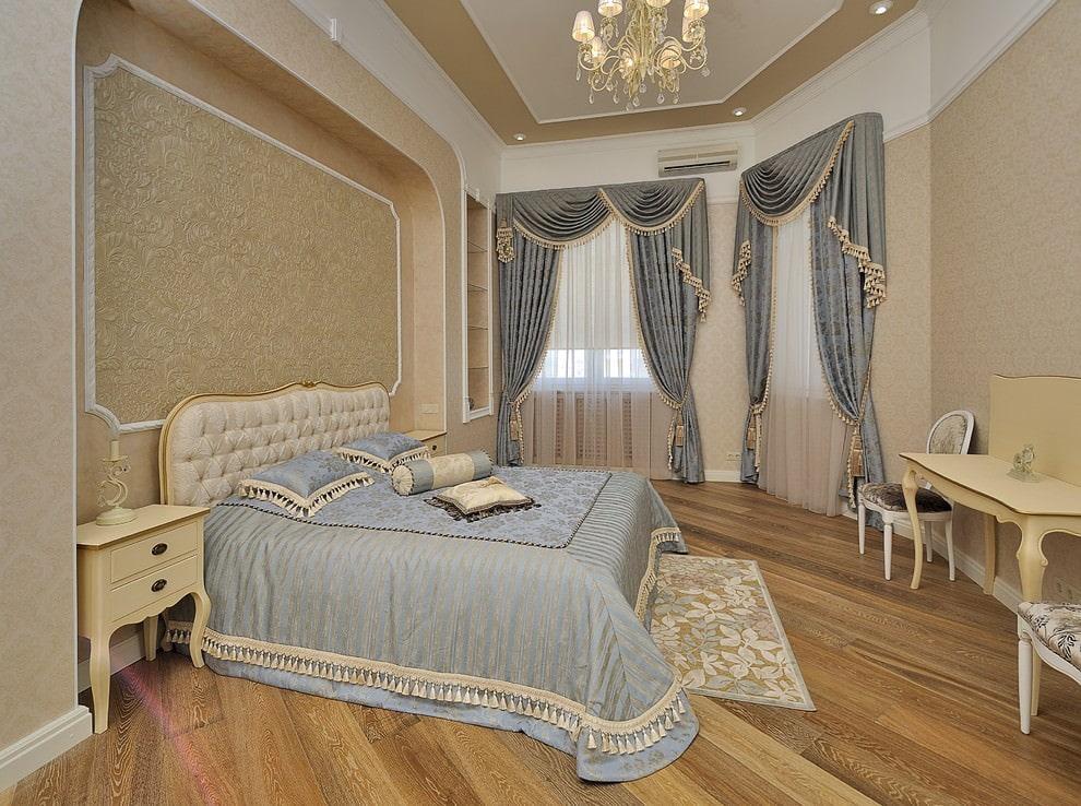 дизайн-проект интерьера дизайн покрывал и штор в спальню фото всего