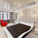 шторы хай-тек в спальне