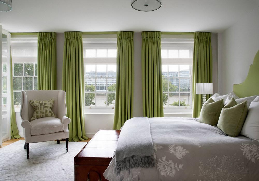 шторы к серым обоям декор фото