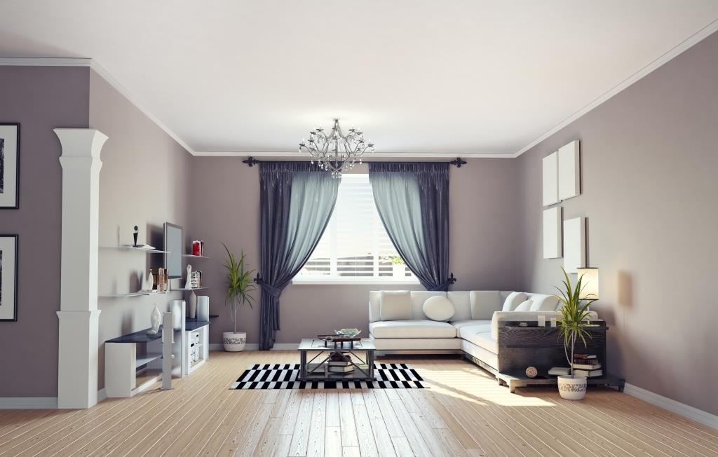 шторы к серым обоям фото идеи